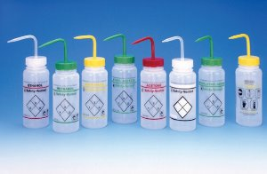 Labeled Wide Mouth Wash Bottles (라벨 광구세척병)